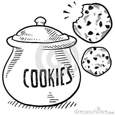 Free Cookie Jar Sketch Royalty Free Stock Images - 23158349