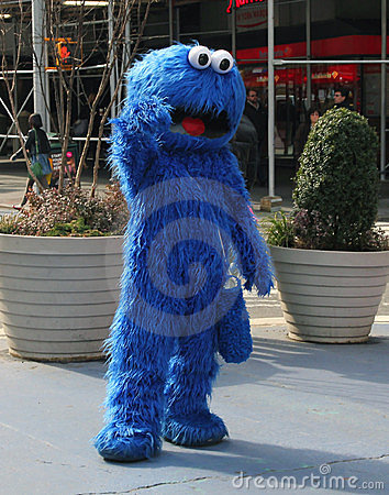 Cookie Monster In NY Editorial Image