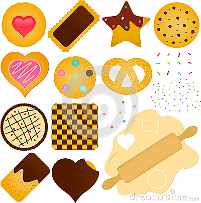 Free Cookies And Biscuit With A Dough Royalty Free Stock Images - 27028879
