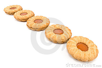 Cookies with apricot jam