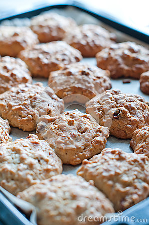Cookies on a baking tray