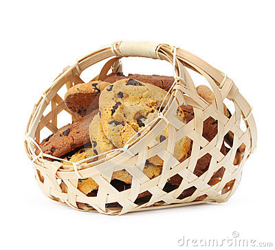 Cookies in basket