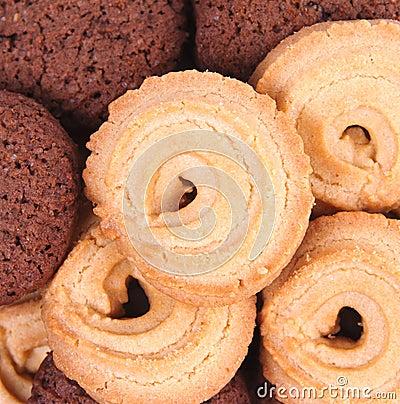 Cookies and chocolate cookies