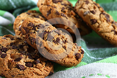 Cookies with chocolate pieces