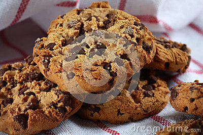 Cookies with dark chocolate