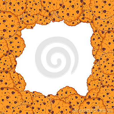 Free Cookies Frame. Oat Biscuits Background. Sweet Cracker Bunch Royalty Free Stock Photography - 78636057