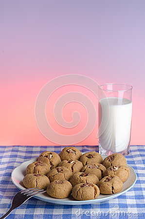 Cookies and Glass of Milk