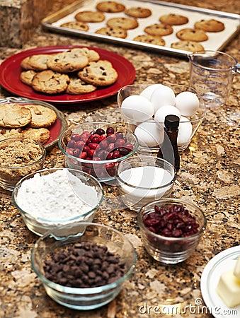 Cookies and ingredients