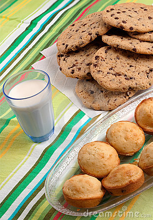 Cookies Muffins and Milk