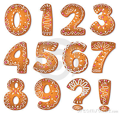 Cookies numbers and symbols