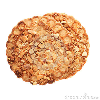 Cookies with a nut crumb.