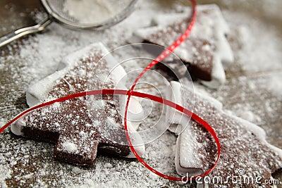 Cookies with powder sugar