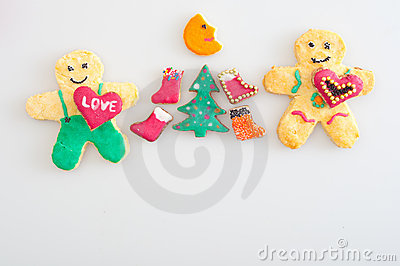 Cookies representing celebration of Christmas