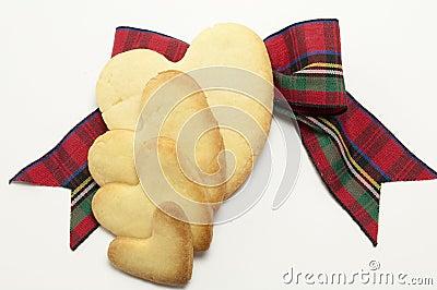 Cookies and tartan bow