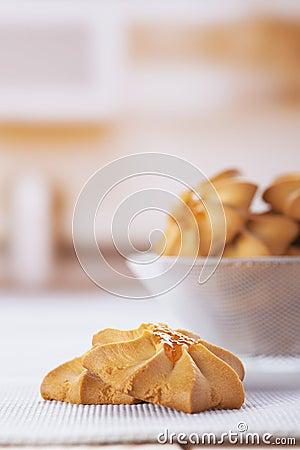 Cookies in vase