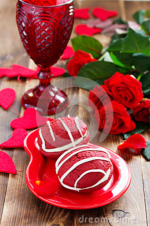 Free Cookies Whoopi Red Velvet Royalty Free Stock Images - 48598599