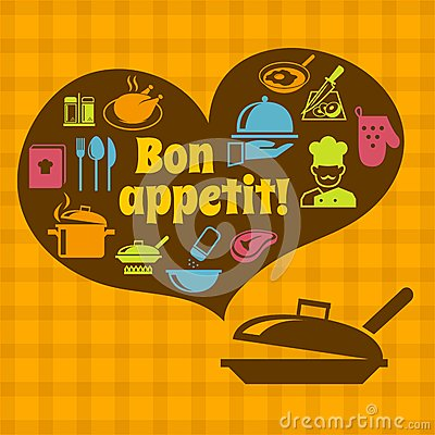 Free Cooking Bon Appetit Poster Stock Photography - 39801232
