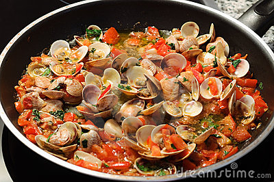 Cooking clams