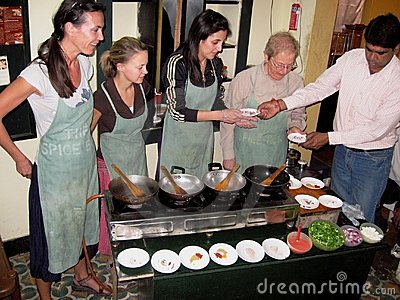 Cooking class Editorial Photography