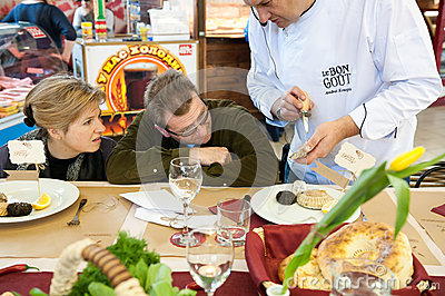 Cooking class Editorial Stock Image