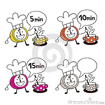 Cooking clocks set