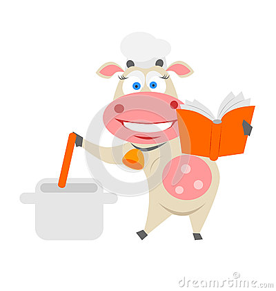 Cooking cow