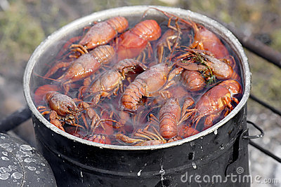 Cooking crawfish