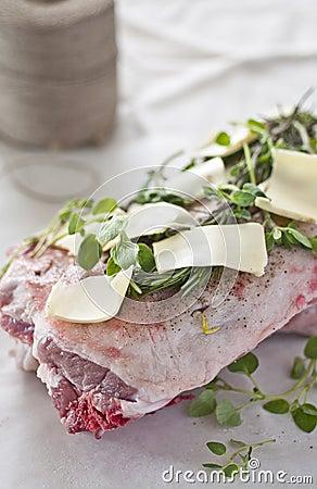 Cooking lamb