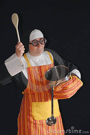 Cooking nun