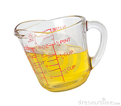 Cooking Oil in Measuring Cup (with clipping path)