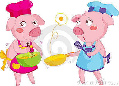 Cooking pigs