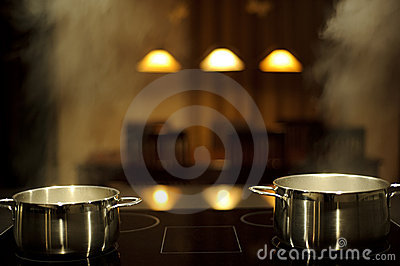 Cooking with pots