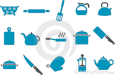 Cooking Tools Icon Set