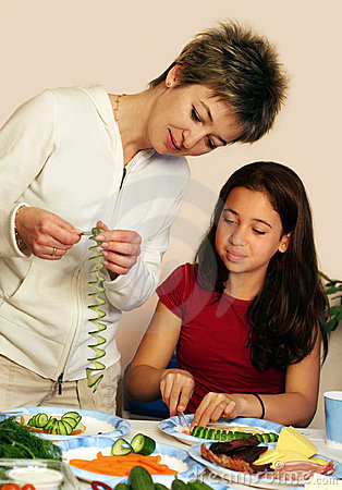 Free Cooking With Mom Royalty Free Stock Photography - 744357