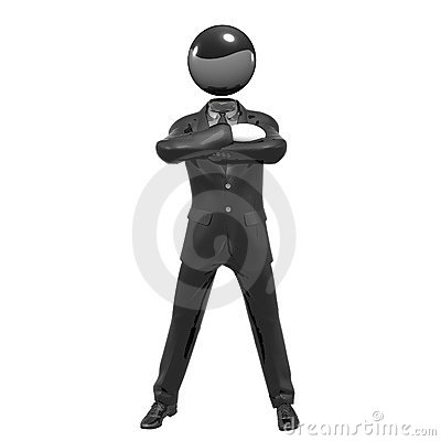 Cool 3d businessman team icon on tuxedo
