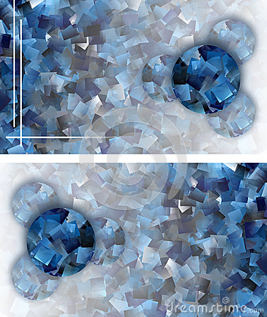 Cool abstract mosaic card-luxurious appearance
