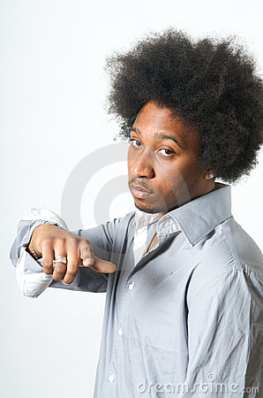 Cool African American Man pointing