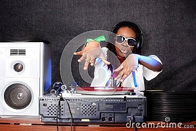 Cool afro american DJ