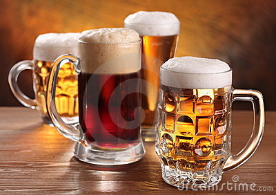 Cool beer mugs.