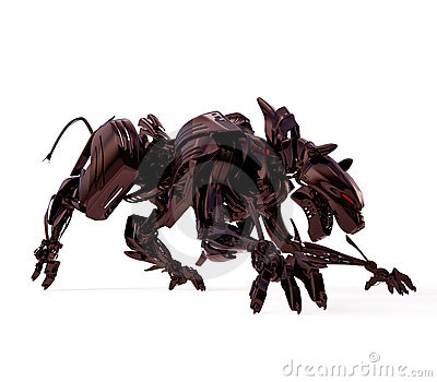 Cool black agressive panther
