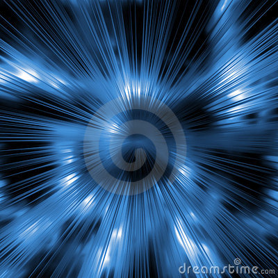 Cool blue rays background