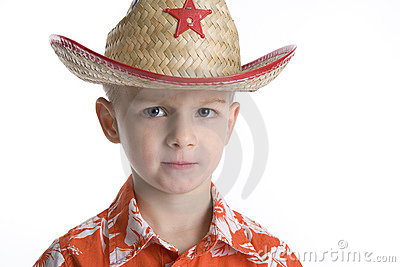 Cool Boy With Sheriff Hat