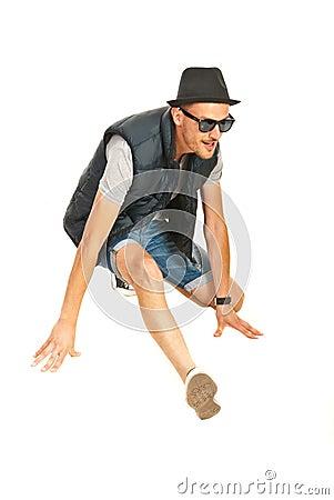 Cool break dancer