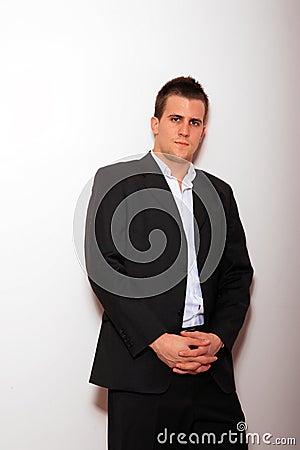 Cool businessman standing