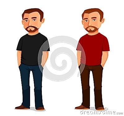 Free Cool Cartoon Guy With Beard Stock Photos - 50407583