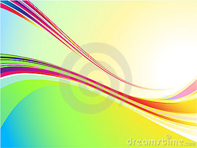 Cool color wave background