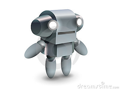 Cool and cute robot from future