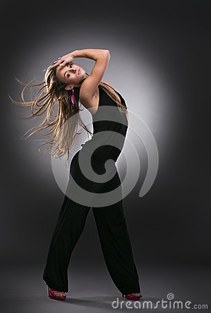 Cool dancer woman