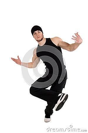 Free Cool Dancing Man Royalty Free Stock Image - 12562976
