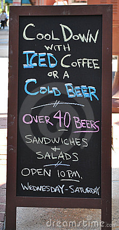 Cool down sign